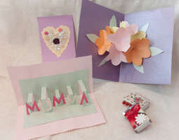 Askartele äitienpäiväkortti