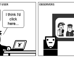 the gallery for gt usability testing comic